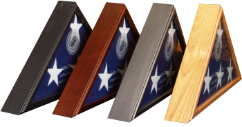 Solid Wood Veteran Flag Display Case American made Military Veterans Law Enforcement Black Cherry Oak Gunmetal Gray American made