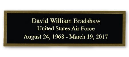 Laser Engraved Name Plate Plaque Flag Case Veteran Funeral Burial free shipping engraving