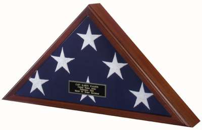Flag Case Engraved Name Plate Inscription Personal Custom for American flag case United States veteran