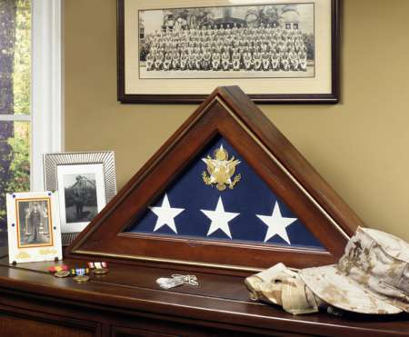 Five Star General Burial Flag Display Case free shipping