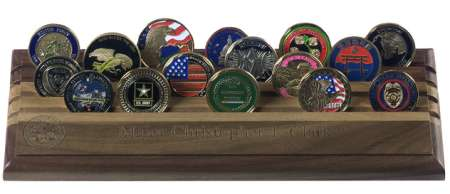 Personalized Laser Engraved Challenge Coin Rack