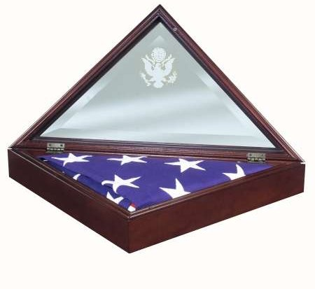 American Made Presidential Flag Display Case Frame Hinged Glass