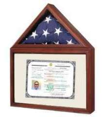 Small (3x5) American Flag Certificate Photo Case