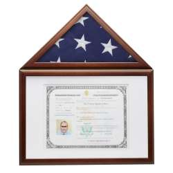 Small (3x5) Presentation Flag Certificate Photo Case