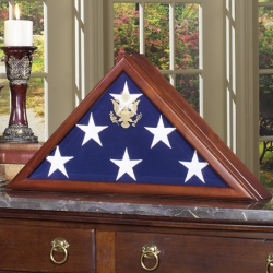 Personalized American Flag Military Veteran Display Case