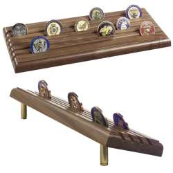 Shell Casing Challenge Coin Racks