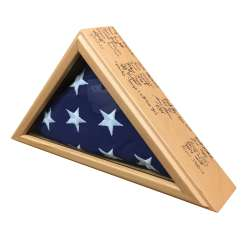 Retirement Signature Flag Case for presentation flag 3x5 made in America solid wood