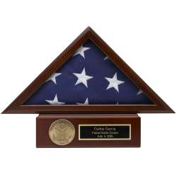 Small (3x5) American Flag Case with Pedestal